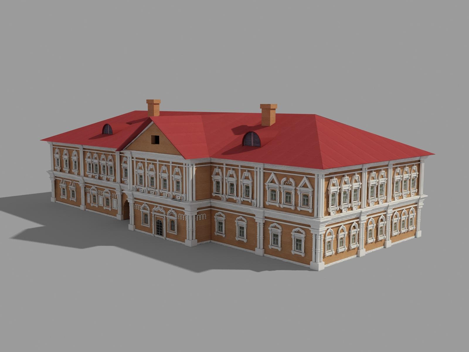 3D модель палат князя В.В. Голицына в Охотном Ряду