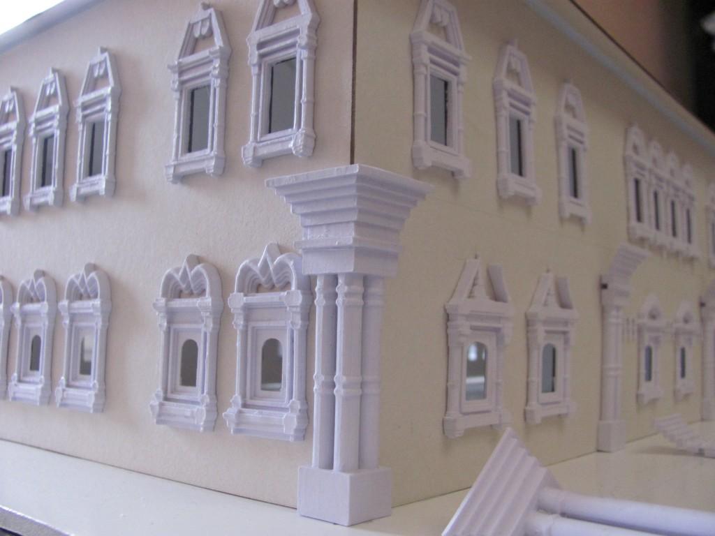 Макет фасада палат князя В.В. Голицына (незавершенный). Элементы макета созданы с использованием 3D технологий