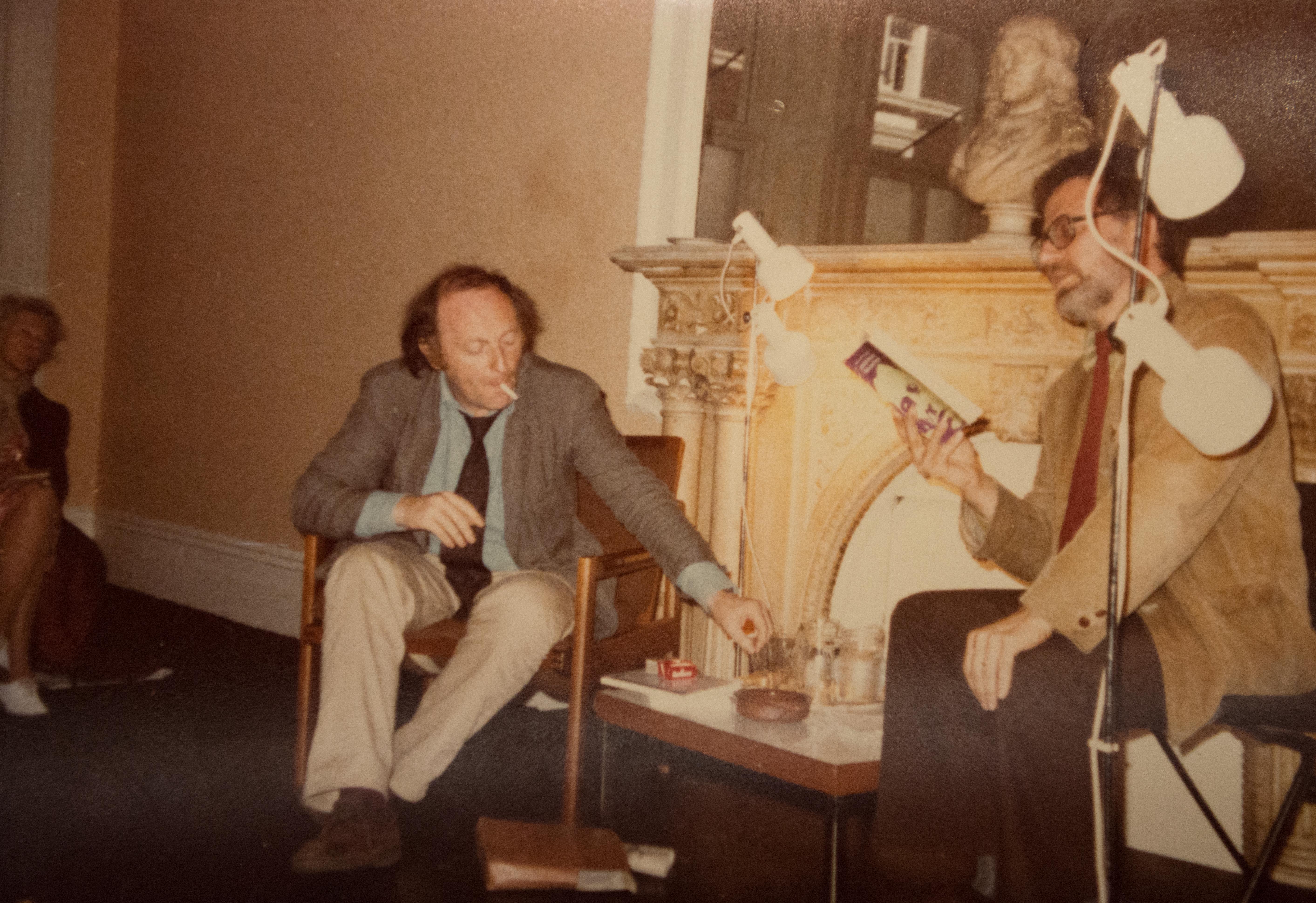 И. Бродский с английским поэтом и переводчиком Даниэлом Уайсбортом (Daniel Weissbort) в Лондонском поэтическом обществе, 1979