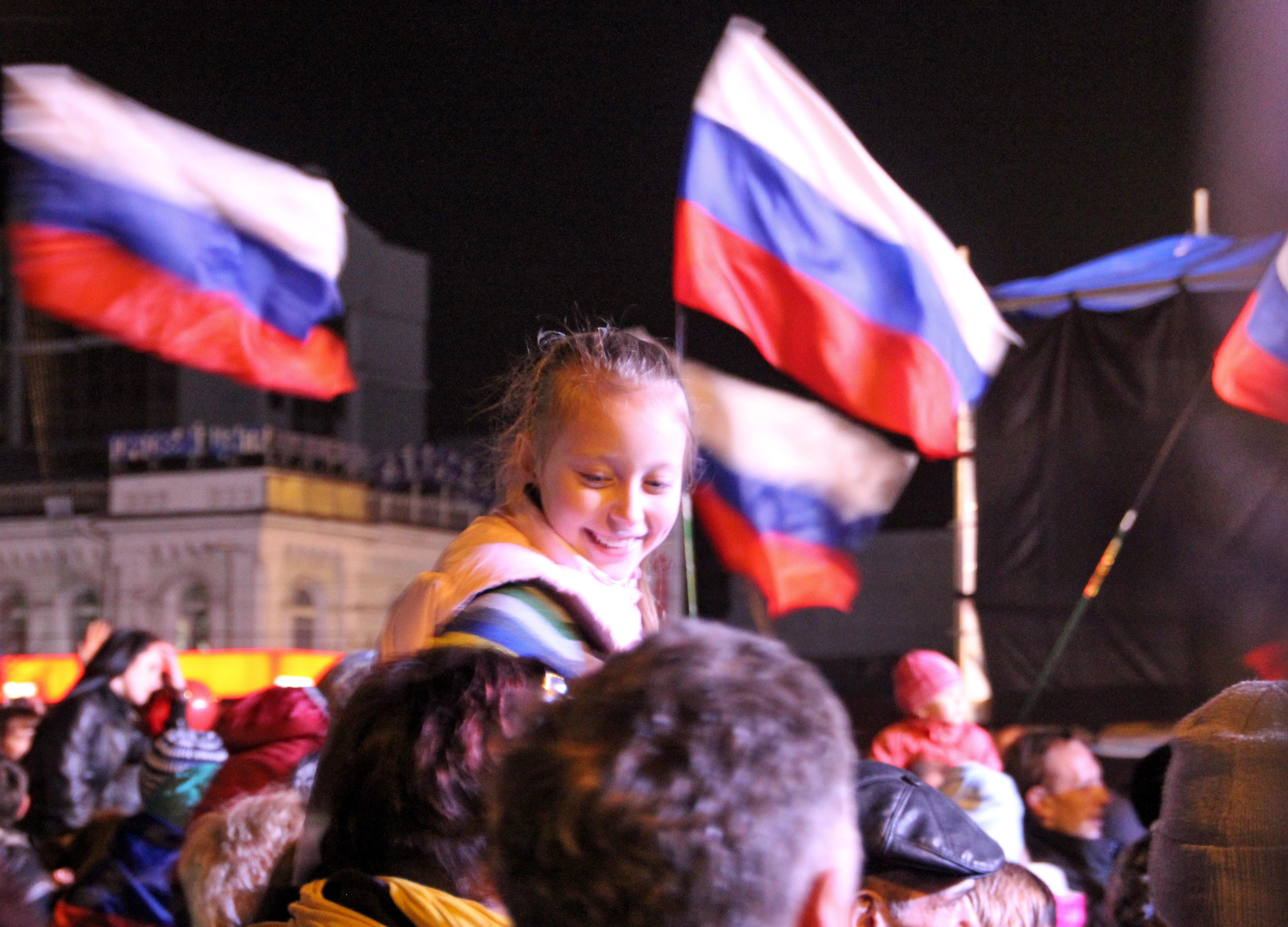 Симферополь. Торжества в честь вхождения Республики Крым в состав России. Март 2014