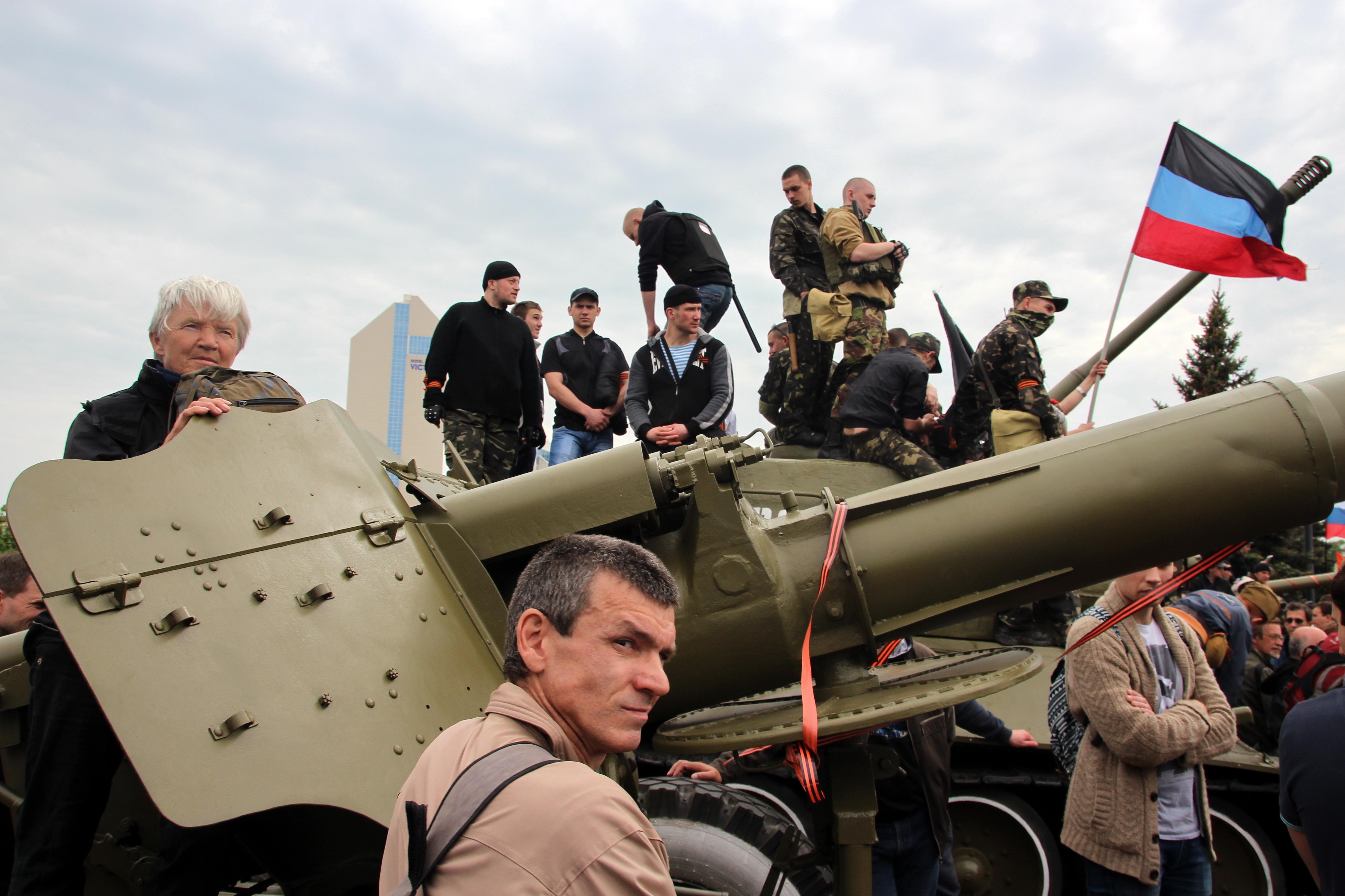 День Победы в Донецке. 9 мая 2014
