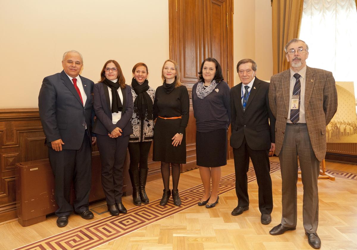 Участники церемонии в Государственном Эрмитаже