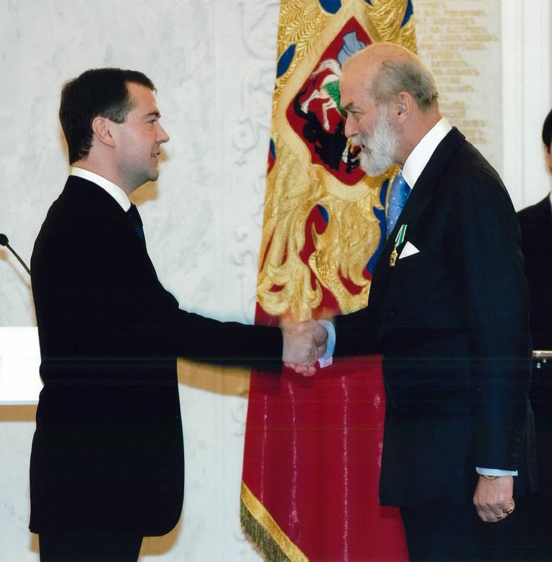 Дмитрий Медведев и Приц Майкл Кентский в Кремле