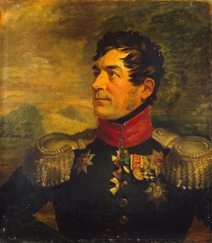 Дж. Доу. Генерал-майор от кавалерии Георгий Эмануэль. 1821 г. Военная галерея Зимнего дворца