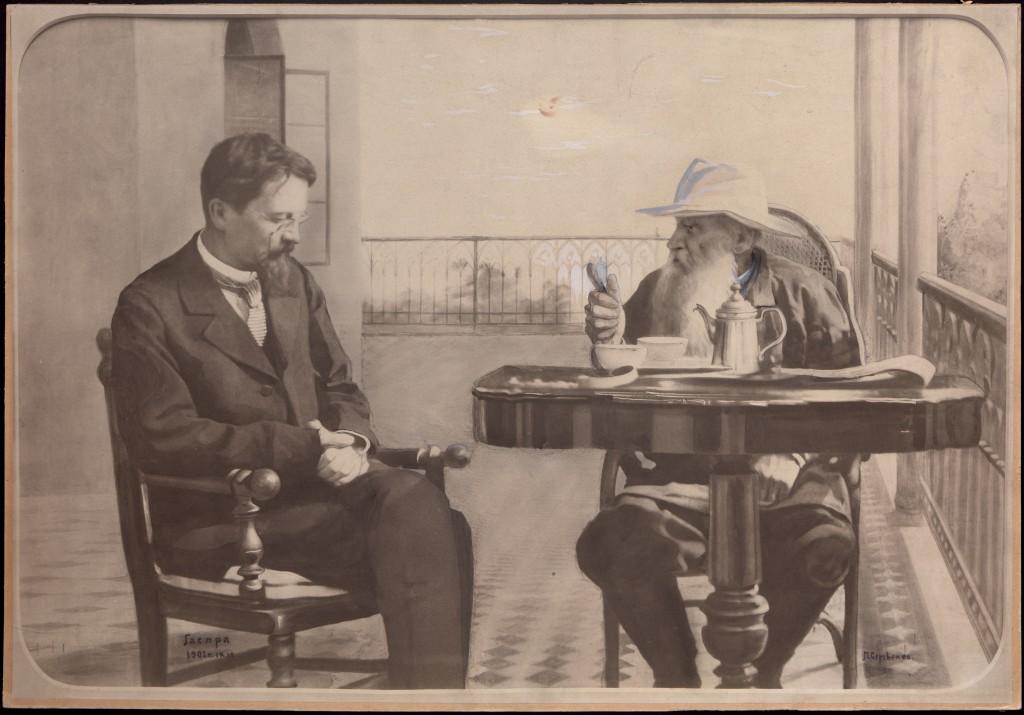 Чехов и Толстой, Гаспра, 1901