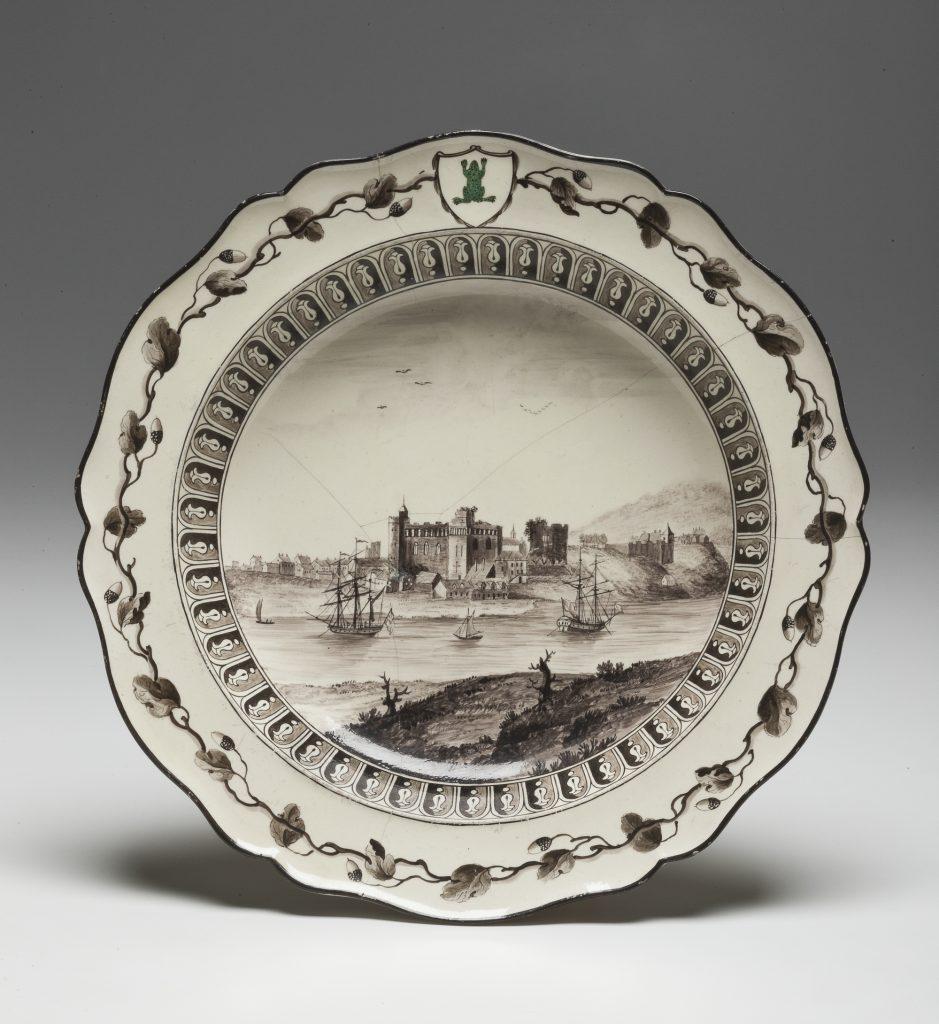 Глубокая тарелка с видом замка Суонси, Уэльс