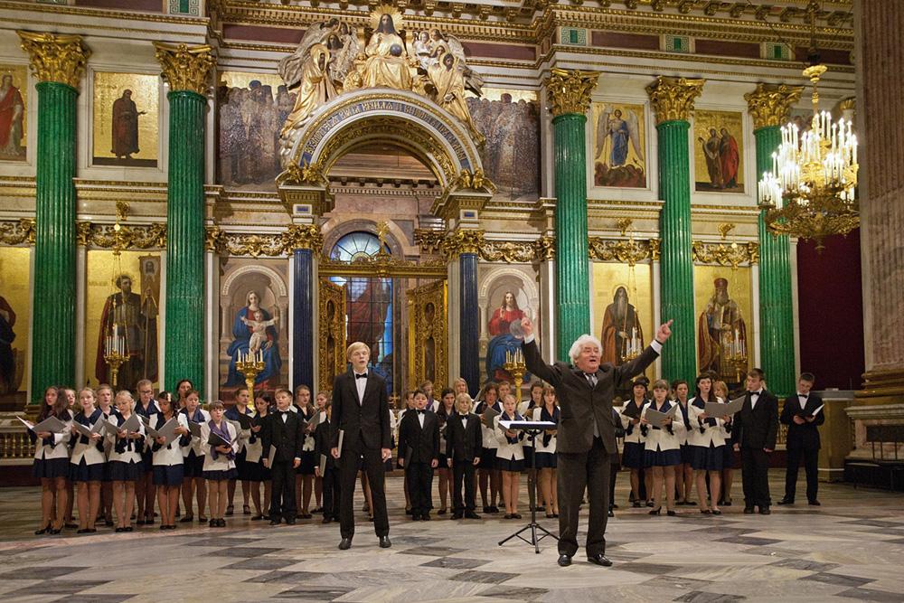 Детский хор и С. Грибков в Исаакиевском соборе