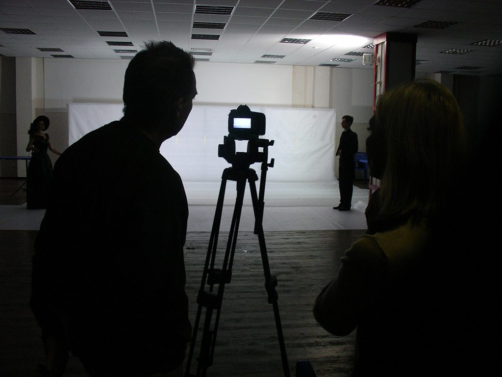 Иван Морозов проверяет кадр