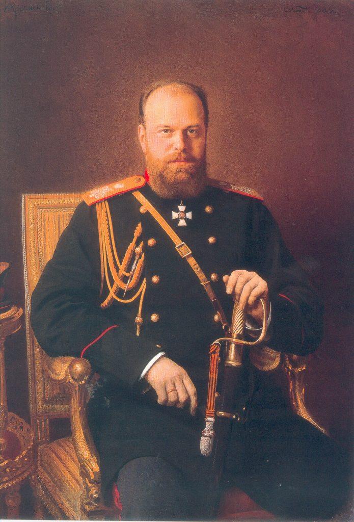 И.Н.Крамской. Портрет Александра III. 1886. Холст, масло. 129х91,5.