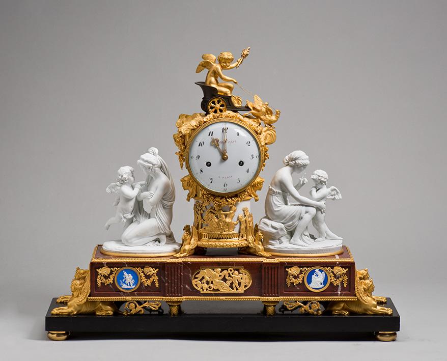Часы каминные с группами