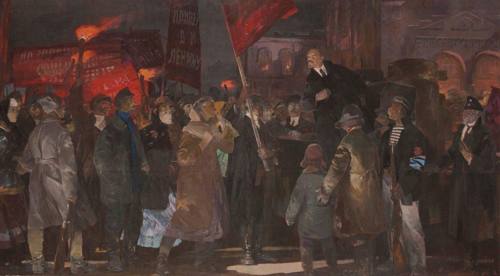 Анатолий Казанцев. Приезд В. И. Ленина в Петроград 3 апреля 1917 г. 1967