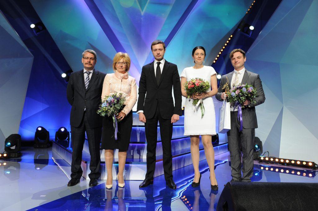 Наталья Зверева с лауреатами прошлого года