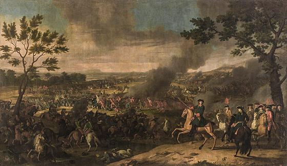 Полтавская баталия. Луи Каравак (1684-1754). Франция, 1718 г.